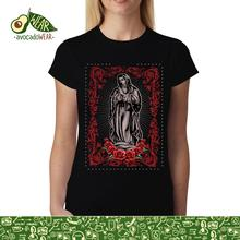Virgin Mary Rose Jesus Women T-shirt S-3XLNew T Shirts Funny Tops Tee New Unisex High Quality Casual Printing 100% Cotton