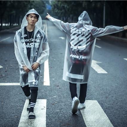 2015 New Fashionable Men Women Raincoat Transparent Rain
