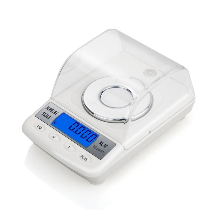 50g 0.001g LCD numérique bijoux balances précision diamant laboratoire Balance de poids médical électronique balances avec câble USB
