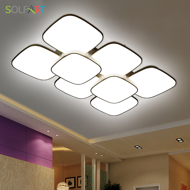 Sol Lamp Ceiling Lights Fixture Curved Modern Led Chip Dimming Round Bedroom Cs89803