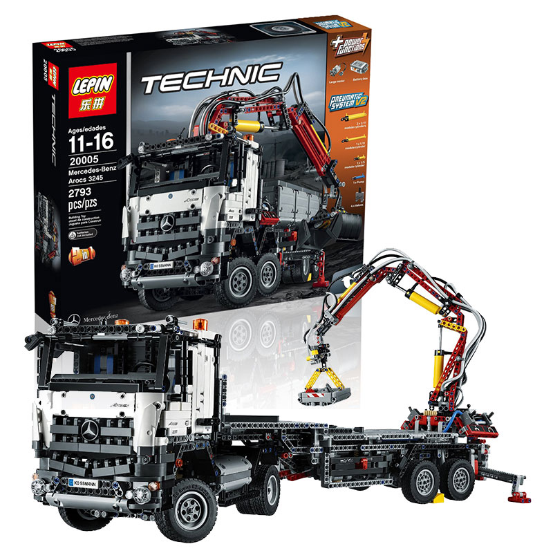 In stock 20005 2793pcs NEW LEPIN technic series 42023 Arocs Model Building Block Bricks Compatible with