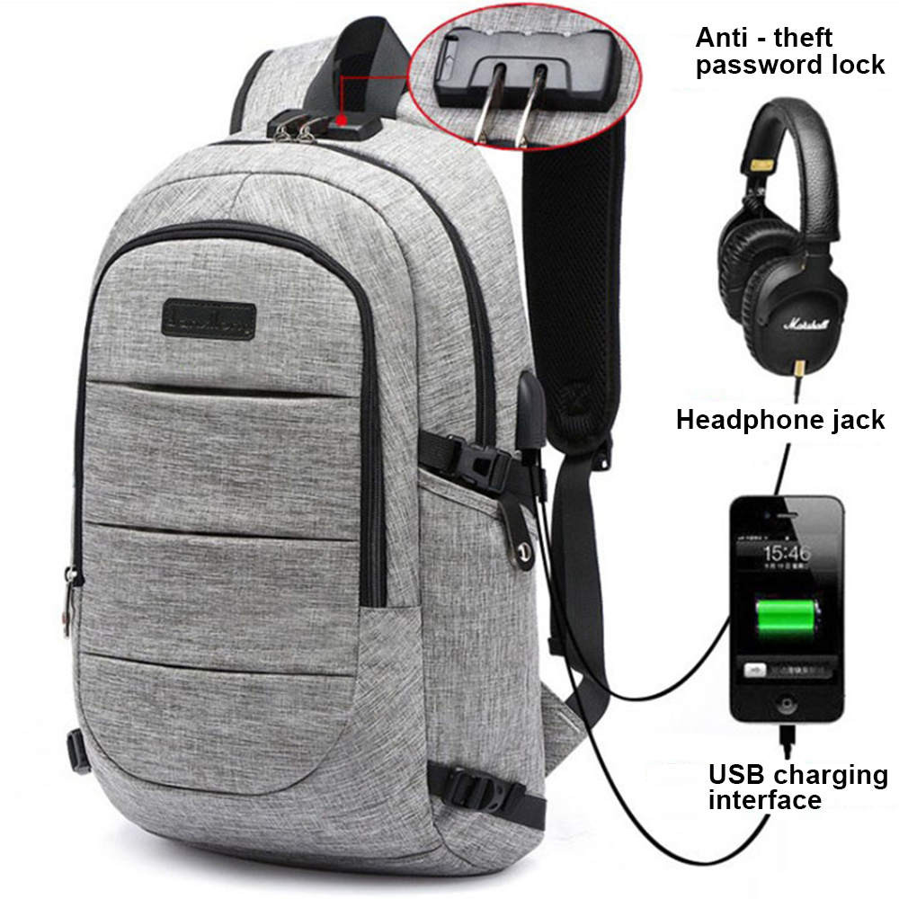 USB Charge Anti Theft Backpack 2017 Men Travel Computer Bag Waterproof School Bag 15 Inch Laptop Notebook Backpack For Men 10.13 brand coolbell for macbook pro 15 6 inch laptop business causal backpack travel bag school backpack