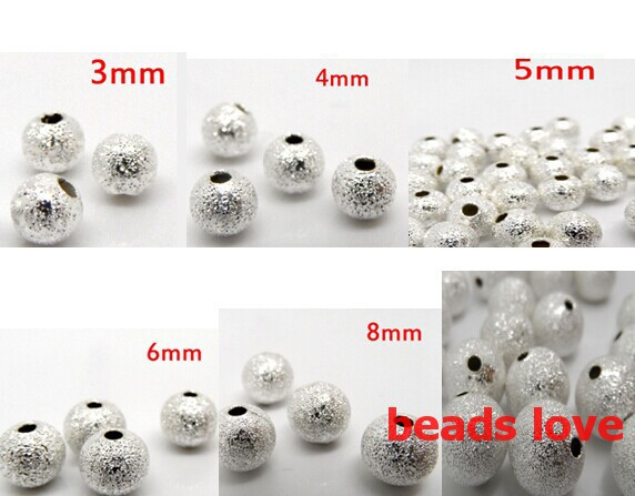 8mm Silver Plated Stardust Beads ~ Quality Brass Metal ~ 4mm 6mm Round