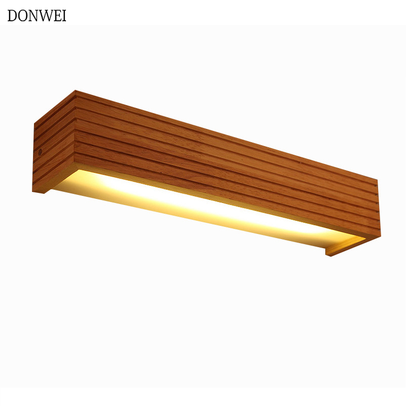 Modern Style bedroom Bedside wood wall light study background lamp 35cm bathroom mirror lighting all wall sconce 85-265VModern Style bedroom Bedside wood wall light study background lamp 35cm bathroom mirror lighting all wall sconce 85-265V