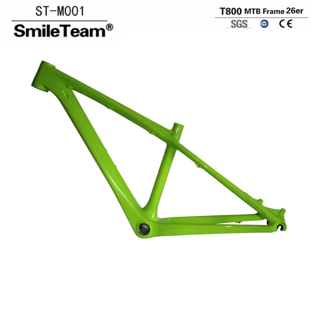 Smileteam Chinese Carbon Frame 14/16 inch 26er Carbon Mountain Bike Frame Super Light Kids Carbon MTB Frame 26er Bicycle Frame соковыжималка supra jes 1870 800 вт нержавеющая сталь чёрный серебристый