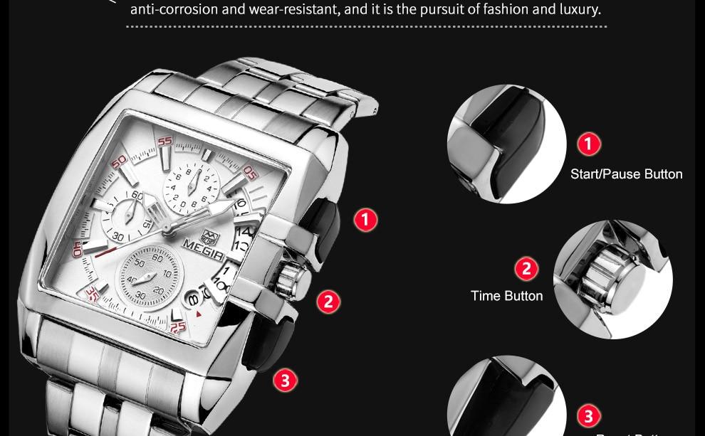 2018-En_12  MEGIR Males's Large Dial Luxurious Prime Model Quartz Wristwatches Artistic Enterprise Stainless Metal Sports activities Watches Males Relogio Masculino HTB1kX1kvm8YBeNkSnb4q6yevFXaa