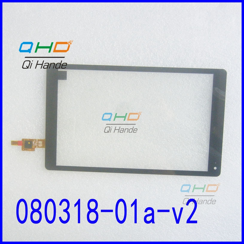Black New 8'' inch Capacitive Touch screen panel digitizer GLASS sensor for 080318-01A-V2 Tablet PC Free shipping original new 8 inch bq 8004g tablet touch screen digitizer glass touch panel sensor replacement free shipping