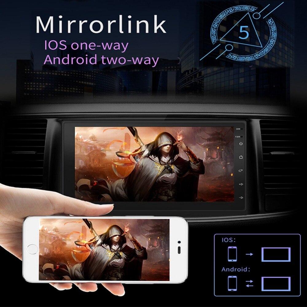 2 Din Авто Радио Android 8,1 Обратный Cam мультимедиа для любых автомобилей Двойной слиток сенсорный экран Bluetooth 7 дюймов автомобиля Фильм плеер