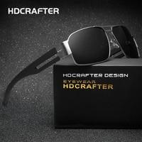 HDCRAFTER Brand Unisex Retro Aluminum Sunglasses Polarized Lens Vintage Eyewear Accessories Driving Sun Glasses For Men/Women