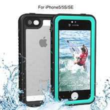 For iPhone 5/5s/SE Waterproof case life water Shock Dirt Snow Proof Protection for iPhone 5s With Touch  ID Case Cover for iphone xs max waterproof case life water shock dirt snow proof protection for iphone xs max 6 5 with touch id case cover