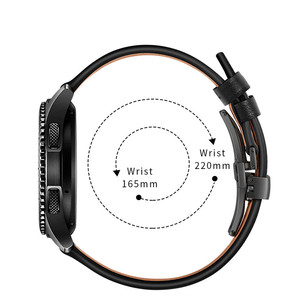 Image 5 - Butterfly clasp Leather Band for Xiaomi Huami Amazfit GTR 47mm 42mm Bracelet Strap for Huami Amazfit Bip lite/Stratos 2/Pace