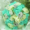 2017 New Arrival 6 Colors wedding bouquet Handmade Roses Roses buque de noivas wedding flowers bridal bouquets ramos de novia