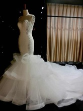bridal gown bandage dress free shipping casamento 2014 new fashion hot sexy vestido de noiva white long mermaid wedding dresses