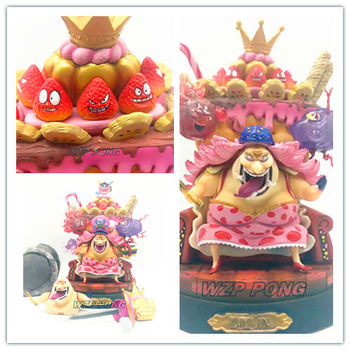 New 22cm One Piece Four Emperors Charlotte Linlin Action Figure toy PVC BIG MOM Model juguetes Collectible Model kids toys