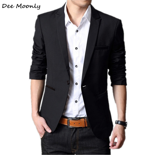 2017 New Arrival Brand Casual Blazer Men Fashion Slim Jacket Suits Masculine Blazer Coat One-Button Suit Men Formal Suit Jacket