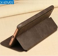 X Level Brand Luxury Extreme Series Leather Flip Cover Case For IPhone 7 7 Plus Full