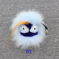 Fluffy Genuine Raccoon Fur Monster Keychain Pom Pom Keychain Fur Key Chain Key Ring Monster Fur Bag Charm