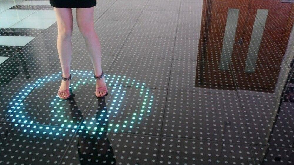 Nuovo design intelligente induzione pista da ballo led rgb luce