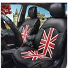 RED Union Jack Summer Pu Leather Black Pink Car Seat Covers For Mazda M6 For Honda