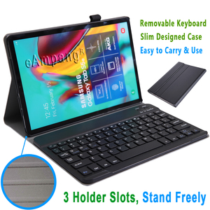 Image 4 - Case for Samsung Galaxy Tab S5e 10.5 Keyboard Case T720 T725 SM T720 Cover Russian Spanish English Bluetooth Keyboard Funda Case