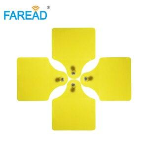 Image 2 - Etiqueta de oreja redonda para identificación de animales, x100 pares, para Vaca, ganado, cerdo, oveja, etiqueta de identificación de animales RFID, estándar HDX visible