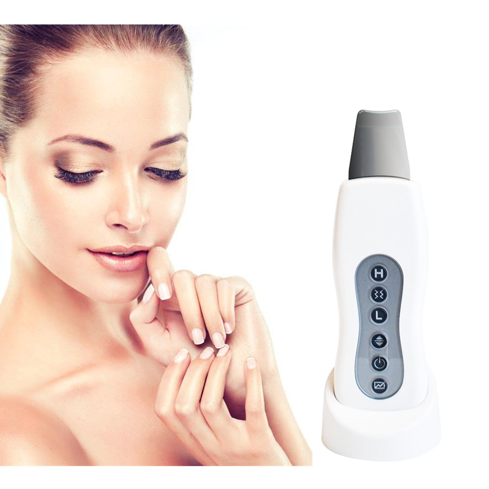 Ultrasound Skin Scrubber Facial Cleansing Machine Acne Removal Massager Pore Peeling Cleaner Tool Beauty Care Massage Equipment portable ultrasound skin cleaner ultrasonic skin scrubber face peeling facial cleansing machine acne removal tool beauty care