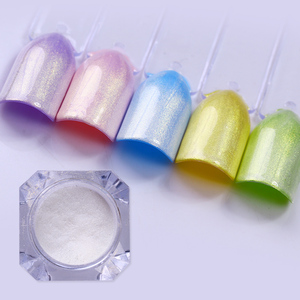 Image 3 - 1box 1g Borsette Perla Glitter Per Unghie Lucido A Specchio Matte Shimmer PIGMENTO Fai Da Te Della Polvere Della Polvere 3D Unghie Artistiche Decorazione