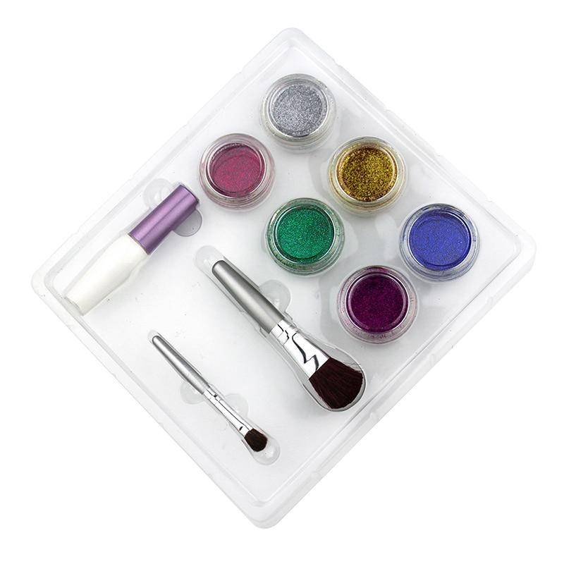OPHIR Glitter Tattoo 6 Farger Glitter Pulver til Body Art Paint Nail - Tatovering og kroppskunst - Bilde 3