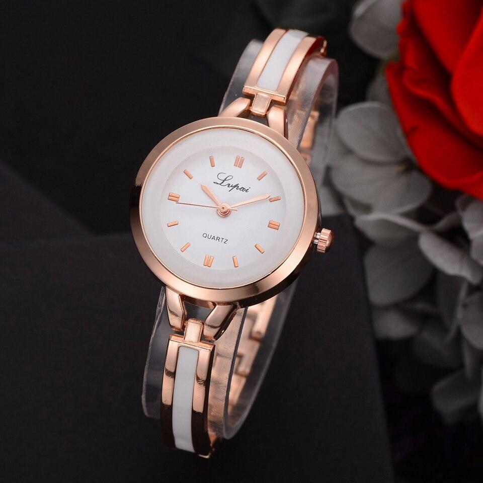 213c80aa7c9 Lvpai Cristal Marca De Luxo em Ouro Rosa Relógios Das Mulheres Pulseira Da  Moda Relógio de Quartzo Mulheres Se Vestem Relógio Relogio feminino Orologio