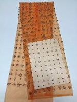 High Quality Nigerian French Net Lace African Tulle Mesh Lace Fabric With Stones And Beads For