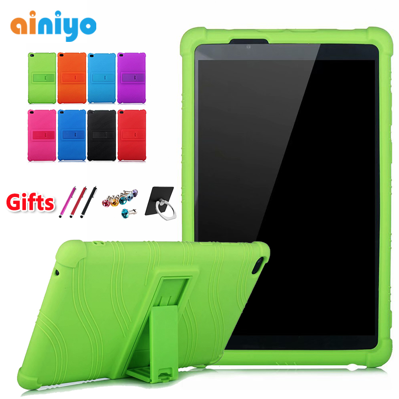 Tablet Cover Case For Lenovo Tab E8 8.0 Inch TB-8304 Thickened Silicone TB-8304F Stand Cover Black + Free 3 Gifts