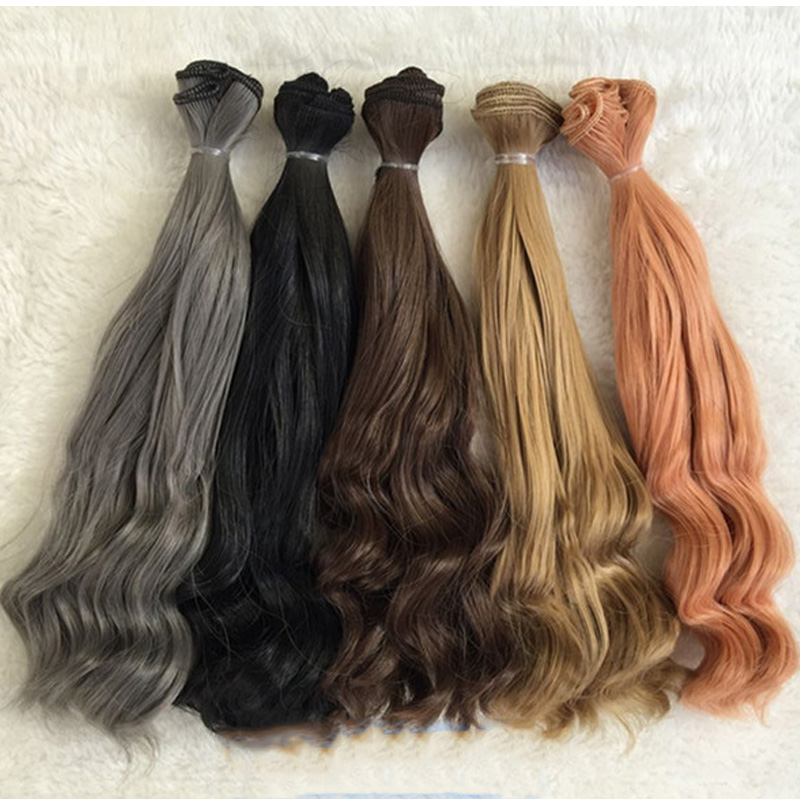10PCS / LOT Nya 25cm Doll Curls Synthetic Doll Hair För BJD Doll DIY