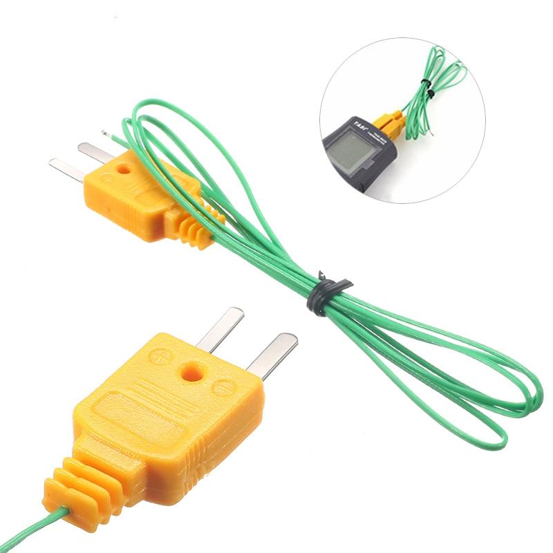 1pcs 1m Wire K Type Thermocouple Sensor Probe Test Temperature NEW