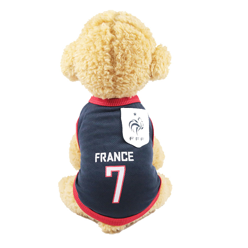 2cc642a97403 Detail Feedback Questions about Sport Dog Clothes Cotton Pet T Shirt  Clothing For Pug French Bulldog Summer Big Dogs Shirts Vest Football Jersey  Outfits XS ...
