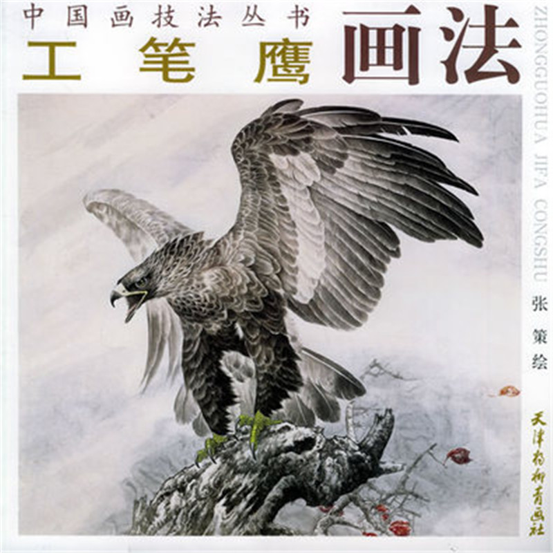 29 x 29cm Chinese painting book how to paint gongbi eagle hawk vulture tattoo master art free shipping set 8 pc painting fine line gongbi sumi e brushes 8 pc gongbi painting books