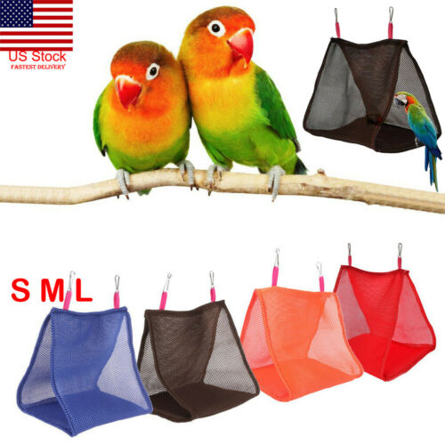 US Practical Breathable Summer Mesh Pet Bird Hammock Hamster Hanging Bed Cage Swing Nest(China)