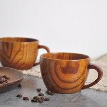 Бамбуковые чашки примитивная Питьевая чашка кофейная пивная посуда чайная чашка дорожная чайная посуда чашка бутылка для воды домашняя деревянная чашка ручной работы подарки
