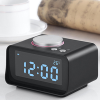 K1 Radio Digital Alarm Clock Speakers Temperature Desktop Speakers Sound Surround Home Party Altavoz for Computer PC LCD Display