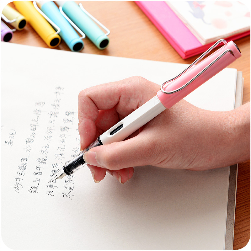 7 Colors Hero 359 EF Nib Fountain Pen Calligraphy Pen pens Stationery + 6 Pcs Ink Refill fountain pen curved nib or straight nib to choose hero 6055 office and school calligraphy art pens free shipping