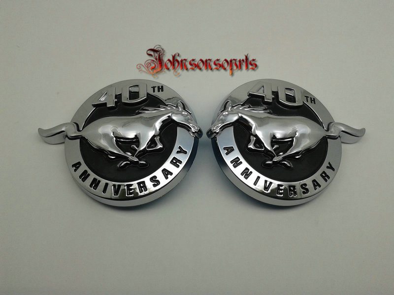 2pcs=1pair ABS Mustang 40th Anniversary Fender emblem SET pair badge decal 2004 GT Mach 04 комбо для гитары fender mustang gt 200 page 3