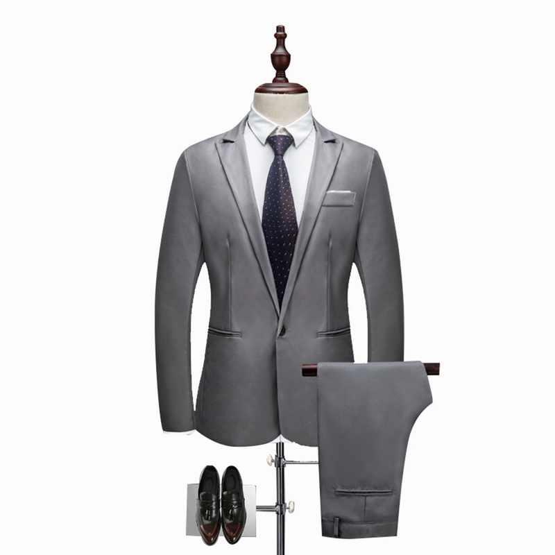 Oeak hommes classique 2 pièces Blazer & pantalon costume ensemble formel affaires Blazers ensembles Slim grande taille 3XL ensembles pour ensemble de fête de mariage