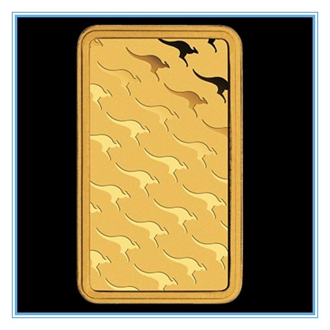 1 oz Gold Bar -Perth Mint (Non-magnetic) 100 PCS/lot DHL Free shipping