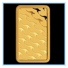 1 oz Gold Bar -Perth Mint (Non-magnetic) 100 PCS/lot DHL Free shipping