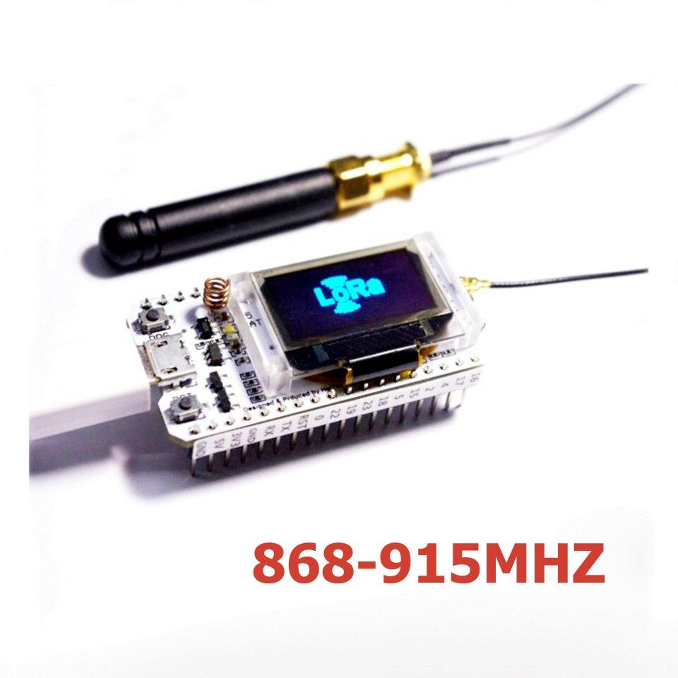 1 pcs 868 MHz/915 MHz LoRa ESP32 Bleu oled Wifi SX1276 Module IOT Conseil de Développement avec Antenne Pour Arduino Électronique diy kit