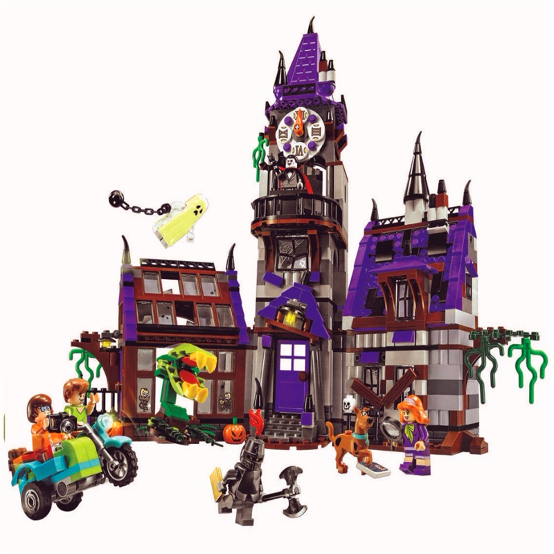 BELA 10432 Scooby Doo Mysterious Ghost House Tower Building Blocks Brick Compatible LegoIN 75904 Playmobil Toys For ChildrenBELA 10432 Scooby Doo Mysterious Ghost House Tower Building Blocks Brick Compatible LegoIN 75904 Playmobil Toys For Children