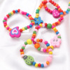 10pcs Natural Wood Kids Elastic Wooden Beads Bracelets Children Girls Party Gift (Random Color) 2