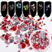 Mtssii Rhinestones For Nails in Wheel 3D Nail Art Decoration