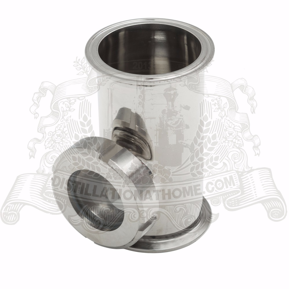 цена на 3 x 3 x 2 Stainless Steel Sight Glass Union TriClamp Tee SS304. Height 120mm