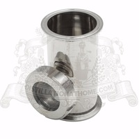3 x 3 x 2 Stainless Steel Sight Glass Union TriClamp Tee SS304. Height 120mm