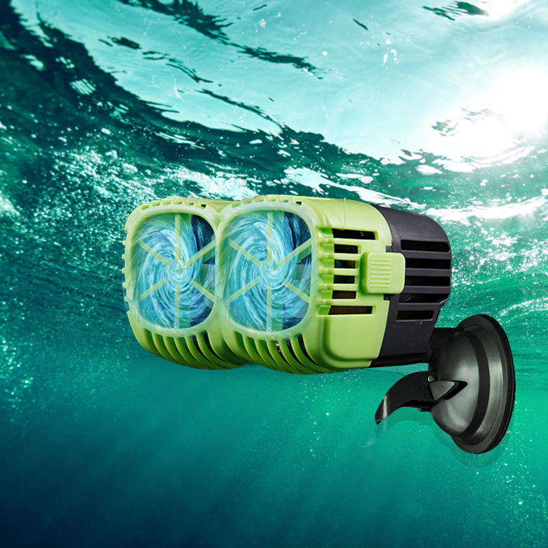 Aquarium Wave Maker Pump Single Double Head,360dergee Adjustable Direction Seawater Freshwater Wave Pump For Fish Tank Surf Pump